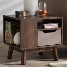 Modern night stand Modern Wooden Pizarro Midcentury Modern Drawer Nightstand Wayfair Midcentury Nightstand Wayfair