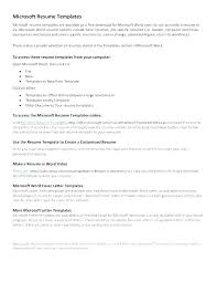How To Write A Resume On Microsoft Word 2007 Resume Templates Resume