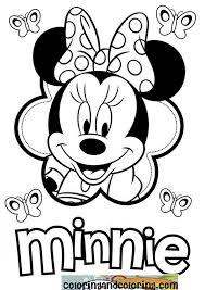 Minnie Mouse Lets Color Disney Coloring Pages Mouse Color