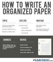 how to write an organized paper elearners write a paper