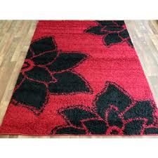 vibrant design black fl area rug 38