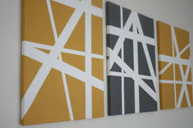 Yellow Black Make Canvas Wall Art White Contemporary Interesting Abstract  Free Style Pattern Contemporary Wooden Simple DIY ...