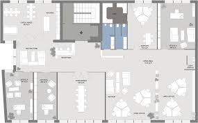 hybrid office layout 2d floor plan