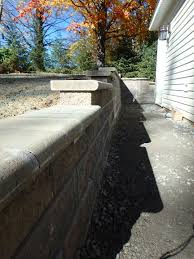 Under Cap Lighting Retaining Wall With Under Cap Lights Completed Hardscape