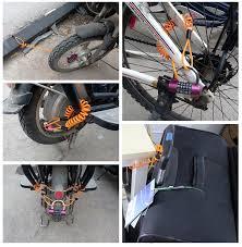 Only 100pcs <b>1.5m</b> bold <b>cable bicycle lock</b> rope anti theft Motorbike ...