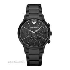 armani watch new mens emporio armani ar2485 black ion plated watch rrp £359 00
