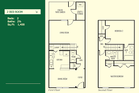 Townhome Floor Plans  The Boulders Apartments And TownhomesTownhomes Floor Plans