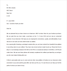 Customer Thank You Letter Sample Customer Thank You Letter 100 Download Free Documents in PDF 2