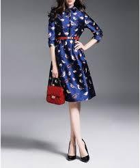 Blue shiny printed midi dress - <b>YYFS</b> in <b>2019</b>   Dresses, Style guides ...