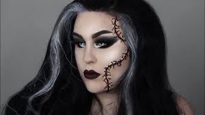 bride of frankenstein easy makeup tutorial