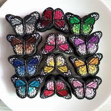 1 Yard <b>Colorful Daisy Flower</b> Heart Butterflies Shaped Lace ...