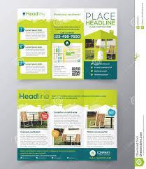 real estate brochure flyer design vector template in a size stock real estate brochure flyer design vector template in a4 size