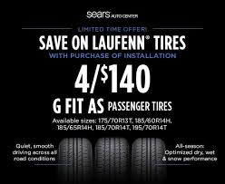 4 <b>Laufenn G Fit</b> AS tires for $140!... - Sears Auto Center | Facebook