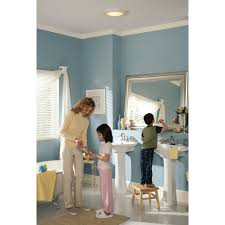 sensing bathroom fan quiet: broan round  cfm exhaust bathroom fan with light