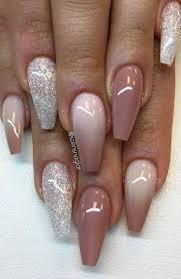 7 glitter and mauve acrylic nails