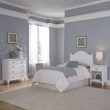 Twin Headboard 3 Piece Bedroom Set in White