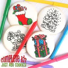 Christmas Coloring Book Cookies Mesh Stencil Set