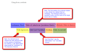 diagrams for mla apa citations citing from a website mla