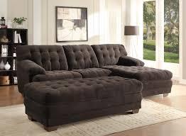 homelegance brooks sectional sofa set chocolate chion microfiber