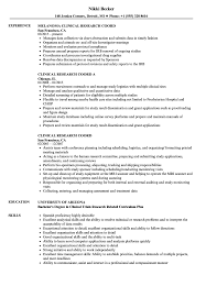 Clinical Research Coord Resume Samples Velvet Jobs