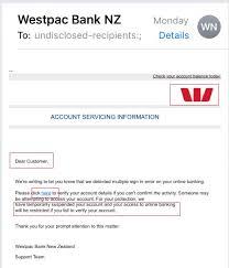 Phishing Scam Report A Phishing Scam Branch Mobile Online Westpac Nz