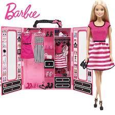 Купить Розовый <b>шкаф Barbie с куклой</b> в Москве