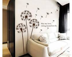 >dandelion wall decal with quotes vinyl decals modern wall art stickers