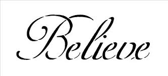 The Word Believe Believe In Yourself Enough To Win Vector