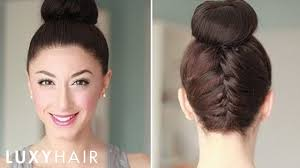 Luxy Hair Style upside down french braid bun style youtube 2201 by wearticles.com