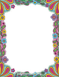 Small Picture Colorful Doodle Border Clip Art Page Border and Vector Graphics
