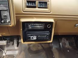 monte carlo stereo installation built to drive finished product that s a freshly painted radio plate