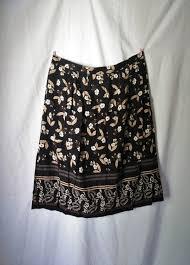 Black Floral Skirt By Sag Harbor Woman In Size 3x Vintage