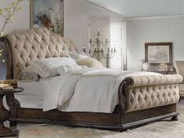 king size sleigh bed. Interesting King Hooker Furniture Rhapsody Rustic Walnut California King Size Tufted Sleigh  Bed To O