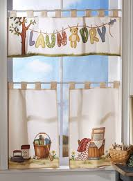 laundry room curtains | Pc. Laundry Room Window Curtain Valance Set from  Collections Etc.