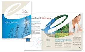 Brochure Templates For It Company Utility Energy Company Brochure Template Word Publisher