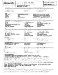 Sample Theater Resume Inspiration Actor Resume Special Skills
