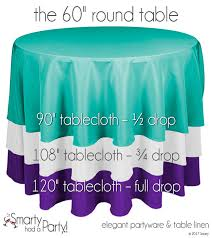 table cloth size guide for a 60 round table to see other tablecloths