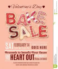 bake sale flyer templates valentines day bake sale flyer template stock vector illustration