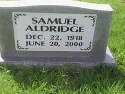 """Samuel """"Sammy"""" Aldridge (1918-2000) - Find A Grave Memorial"""