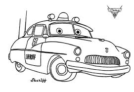 Small Picture Cars Sheriff from Disney Cars Coloring Page Download Print