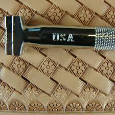 pro crafters series flower center basket weave stamp leather stamping tool 4 4 of 6 see more