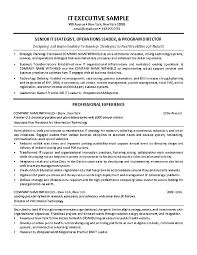 It Director Resume Samples Sales Manager Resume Sample India