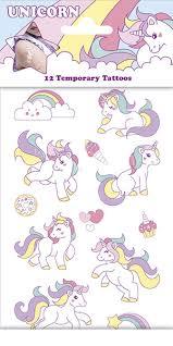 Dětské Tetování Unicorn Jednorožec