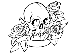 Small Picture Skull coloring pages in fire ColoringStar