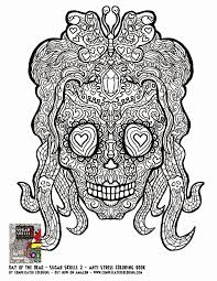 Horse Coloring Book For Adults Inspirational Girl Sugar Skulls