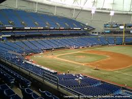 Tropicana Field Seating Chart With Rows Tropicana Field Tickets