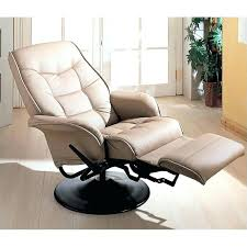 black leather swivel recliner with ottoman comfort chair chairs
