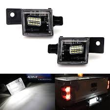 2018 Silverado License Plate Light Bulb Ijdmtoy Oem Fit 3w Full Led License Plate Light Assembly Kit For Chevrolet Silverado Colorado Gmc Canyon Sierra 1500 2500 3500 Truck Powered By