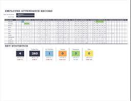 Attendance Tracker Spreadsheet Employee Attendance Record