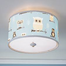 Owls Drum Shade Ceiling Light Kids Rooms Ideas Ceiling Light